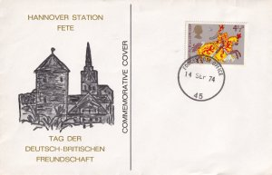 Hannover Station Fete Germany Forces First Day Cover