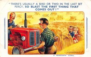 Bamforth Comic, Tractor Farm Blast the First Thing that Comes Out! Fitzpatrick