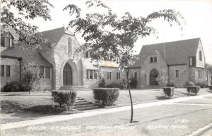 Austin Minnesota~Queen of Angels Catholic Church~Young Trees in Front~1940s RPPC