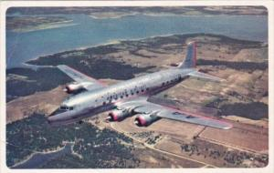American Airlines DC-6 Flagship In Flight