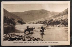 Mint France RPPC Postcard South Africa Mission Mountain Post In Basutoland