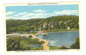 Partial view of lake and Dance Pavilion, east side, Ella VIsta, Arkansas, 30-40s