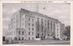 Illinois Decatur New Macon County Court House 1945