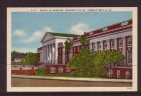 Virginia Post Card Med School University of Va