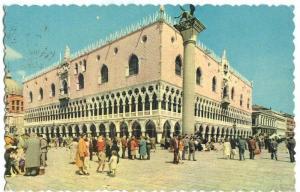 Italy, Venice, Venezia, Il Palazzo Ducale 1962 used Postcard