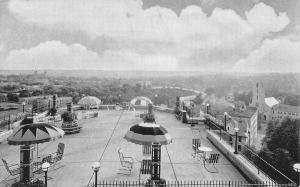 Washington DC~Fairfax Hotel Roof~Umbrella Tables~City View~Hudson Moses Mgr~1945