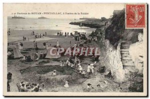 Around Royan Pontaillac Old Postcard At & # 39ombre cliff