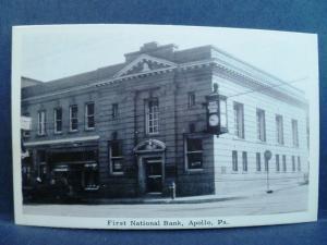 Postcard PA Apollo First National Bank