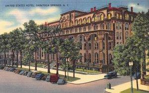 United States Hotel, Saratoga Springs, New York, Early Postcard, Unused