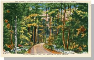 Staunton,Virginia/VA Postcard, Ramseys Draft Area,Near Mint!