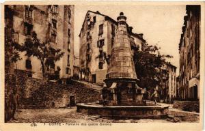 CPA CORSE Corte- Fontaine des Quatre Canons. (711610)