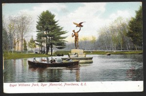 Roger Williams Park & Dyer Memorial Providence Rhode Island Used c1915