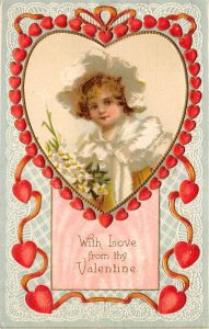St. Valentines Day Postcard Writing on back