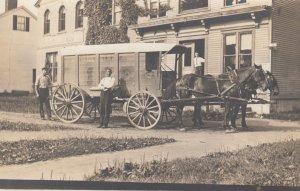 RP : RUTLAND , Vermont , 00-10s ; Dunklee Ice Co. Hoprse Drawn Wagon