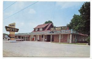 Del Mar Motor Court Motel New Castle Delaware 1966 postcard