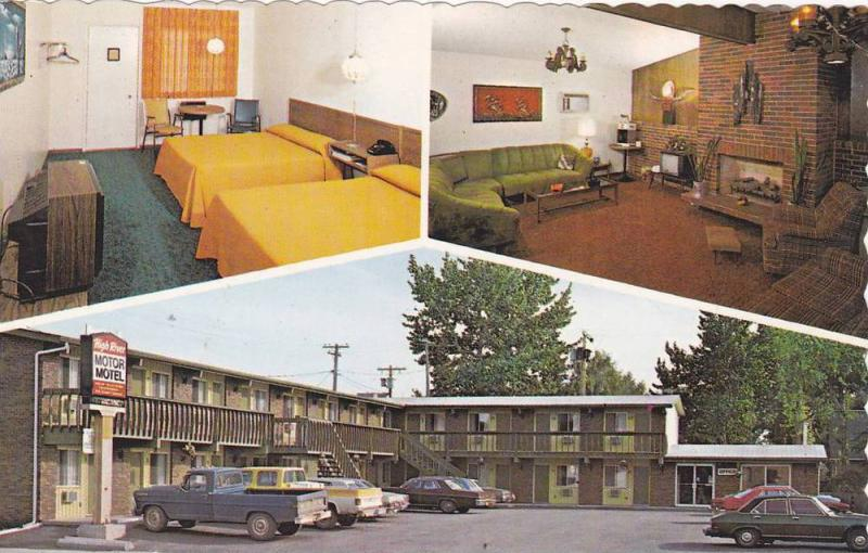 3-views,  High River Motor Motel,  High River,  Alberta,  Canada,   40-60s