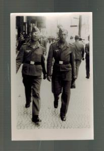 Mint WW2 Germany Two Luftwaffe Air Force soldiers Walking Real Picture Postcard