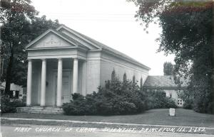 Princeton Illinois~First Church Of Christ Scientist~Reading Room RPPC c1950