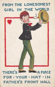 VALENTINE'S DAY, 1900-1910s; From The Lonesomest Girl In The World