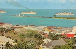 Nassau in the Bahamas Post card Old Vintage Antique Postcard Cruise Ships at ...