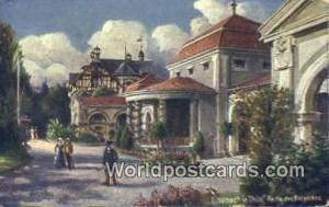 Eisenach Germany, Deutschland Postcard Partie des Kurparkes Eisenach Partie d...