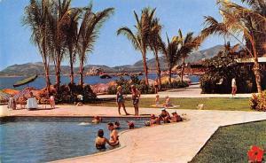 Acapulco Mexico Postcard Tarjeta Postal Alberca Del Hotel Elcano Acapulco