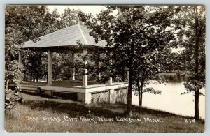 New London Minnesota~City Park Band Stand on Waterfront~1930s RPPC