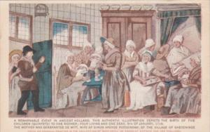 Netherlands Sheeveninge Mother Giving Birth To Five Children 5 January 1719