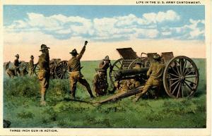 U S Army - Three Inch Gun In Action