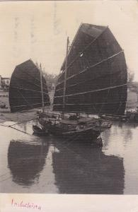 RP: Junk Boat , Indo-China , 1950