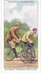 Cigarette Cards Players CYCLING No 16 Olympia Tandem Tricycle