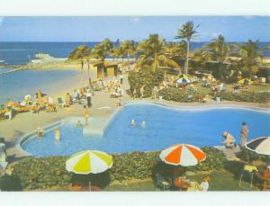 Pre-1980 SWIMMING POOL AT HILTON HOTEL San Juan Puerto Rico PR HQ2401