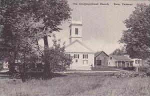Vermont Peru The Congergational Church Albertype