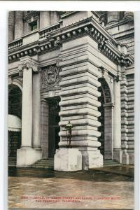 Detail of Mason Street Fairmont Hotel San Francisco California 1910c postcard