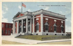 F14/ Weatherford Texas Postcard c1910 U.S. Post Office
