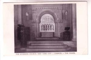 Interior,The Chapel, Riverside Church, New York City, East & West Postcard Co
