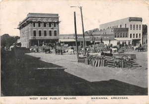 Marianna Arkansas West Side Public Square Vintage Postcard AA200