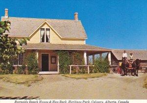 Canada Burnside Ranch House & Hay Rack Heritage Park Calgary Alberta