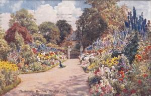NORTHAMPTONSHIRE, England, PU-1938; Hervaceous Borders, Dingley Park, Peacock
