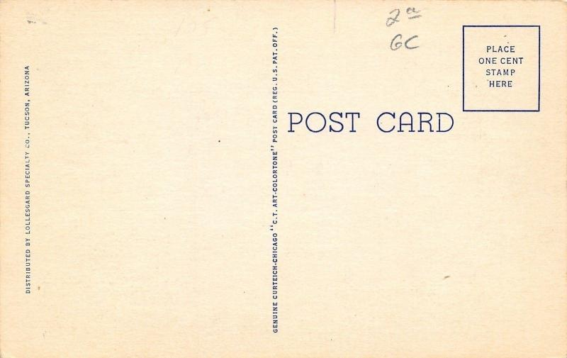 Douglas AZ Phelps-Dodge Mercantile~Corner Bank~Sears~Stop Sign in Street 1944