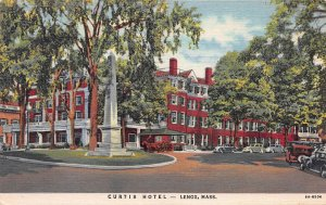 Curtis Hotel, Lenox, Massachusetts, Early Linen Postcard, Used in 1952