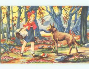 Pre-1980 foreign LITTLE RED RIDING HOOD MEETS THE WOLF - FAIRYTALE W6969