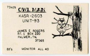 QSL Radio Card From Palmer TN Tennessee KASR-2603