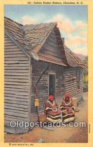 Indian Basket Makers Cherokee, NC, USA Postcard Post Cards Cherokee, NC, USA ...