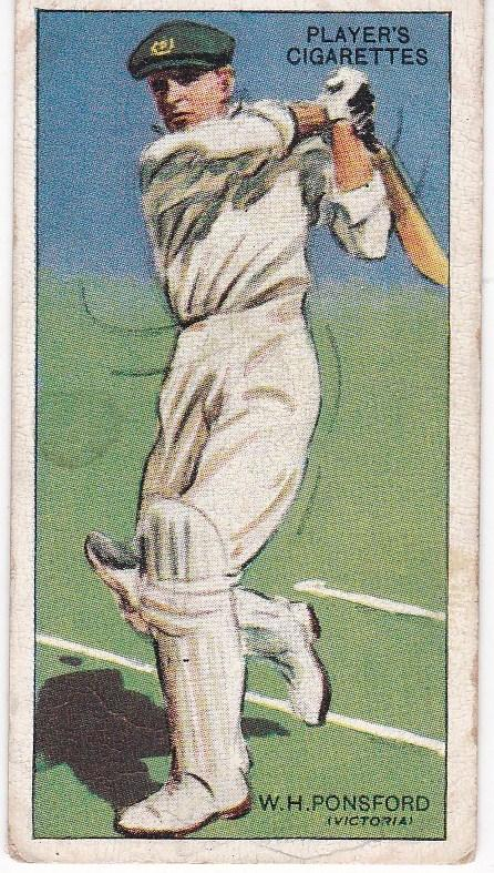 Cigarette Cards Player's Cricketers 1930 No 36 - W H Ponsford