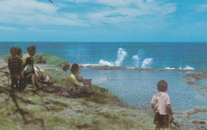 Blow Holes , Houma , Tonga , 1950-60s