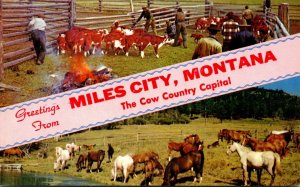 Montana Greetings From Miles City