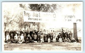 RPPC  SALEM, Oregon ~ Boys & Girls INDUSTRIAL CLUB CAMP GROUNDS c1910s Postcard