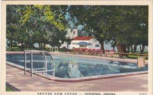 Arizona Littlefield Beaver Dam Lodge Swimming Pool Curteich sk5161