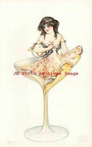 6 Postcards Set, Samuel Schmucker, Detroit Publishing, The Drinkers